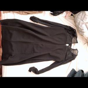 BCBG long sleeve mesh dress